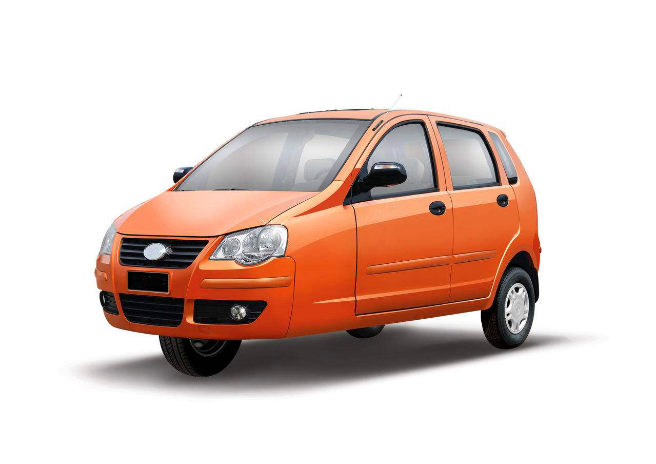 3 wheel vehicle orange with gasoline EFI engine 600cc